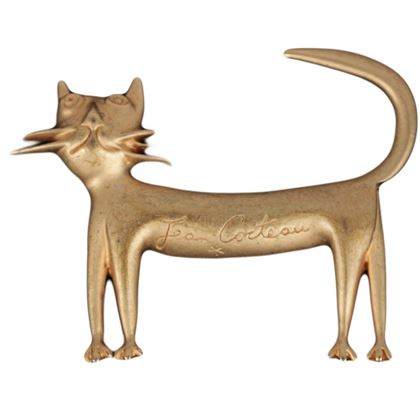 jean-cocteau-madeline-flammarion-vintage-1997-gold-metal-cat-brooch-pin-2