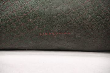 Liebeskind Berlin Green Embossed Snake Leather Maxine Tote Bag