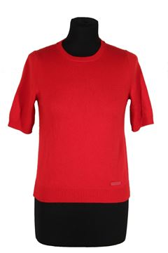 Louis Vuitton Red Cashmere Short Sleeve Jumper