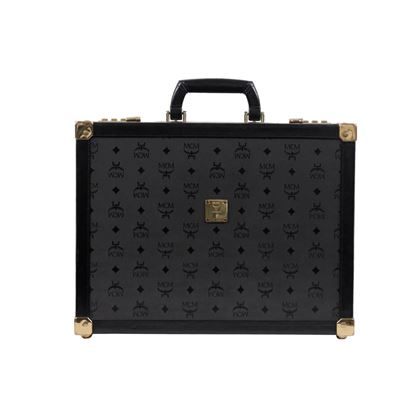 mcm-munchen-black-logo-canvas-leather-briefcase-attache-hard-sided-bag