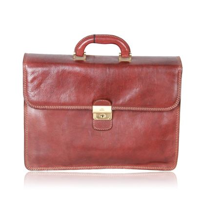 the-bridge-brown-leather-briefcase-handbag-work-business-bag