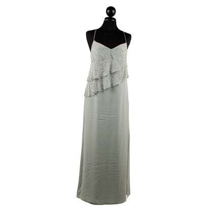 Silk Evening Maxi Dress With Beads And Ruffles 44 It