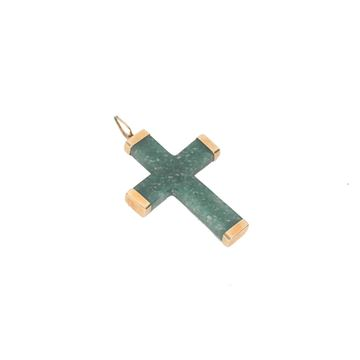 vintage-18k-yellow-gold-green-nephrite-jade-cross-pendant