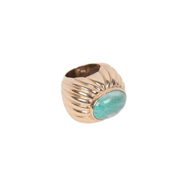 Vintage Sterling Silver Turquoise Cabochon Statement Ring
