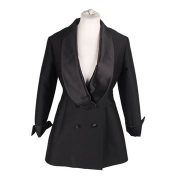 Yves Saint Laurent AW07 Black Wool & Silk Tuxedo Blazer