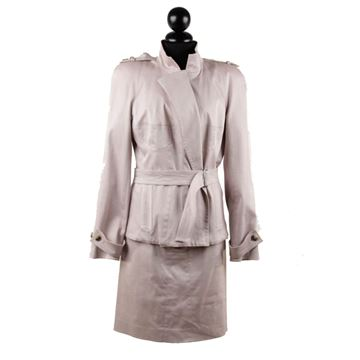 Yves Saint Laurent Pink Jacket & Skirt Suit Set
