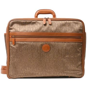 Gucci Brown Jacquard Suitcase Handbag
