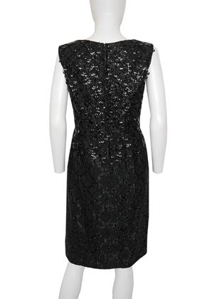 Lanvin 1960s Sequined LBD Little Black Dress