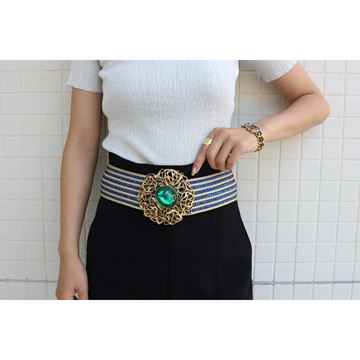 Picture of YSL Stone Design Green Ladies Belt