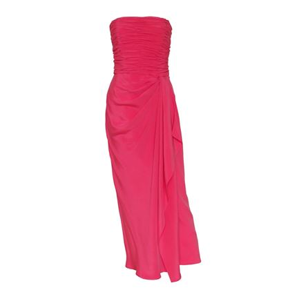 Loris Azzaro 1990s Draped Pink Evening Gown
