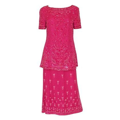 Escada 1990s Sequined Pink Evening Two-Piece