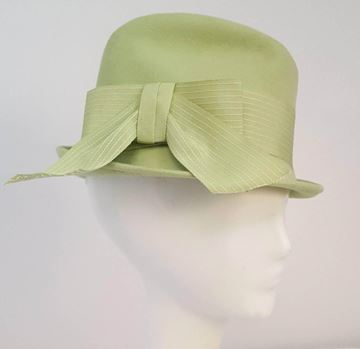 Vintage 1960s Lime Green Trilby Style Hat