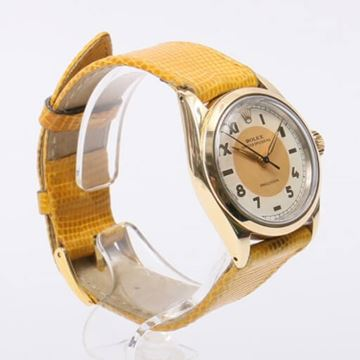 Rolex Yellow Lizard Oyster Speed King Precision Ladies Watch
