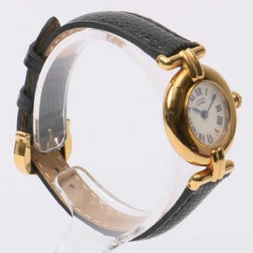Cartier Black Must Colisee Vermeil Watch