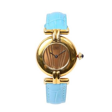 Cartier Blue Must Colisee Vermeil Bleu Watch
