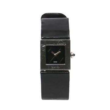 Chanel Black Patent Matelasse Watch