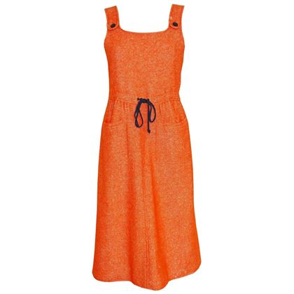 Courreges 1960s Orange Wool Dress