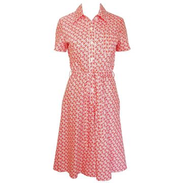 Bogner 1970s Orange Belted Day Dress