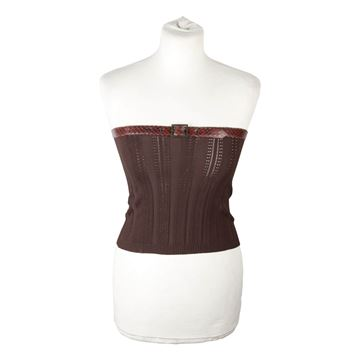 Christian Dior Brown Bandeau Strapless Top