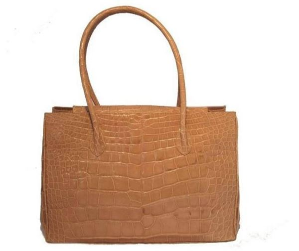 alexandra-knight-tan-alligator-handbag