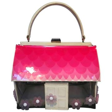 Vintage rare Moschino Patent Leather House Top Handle bag