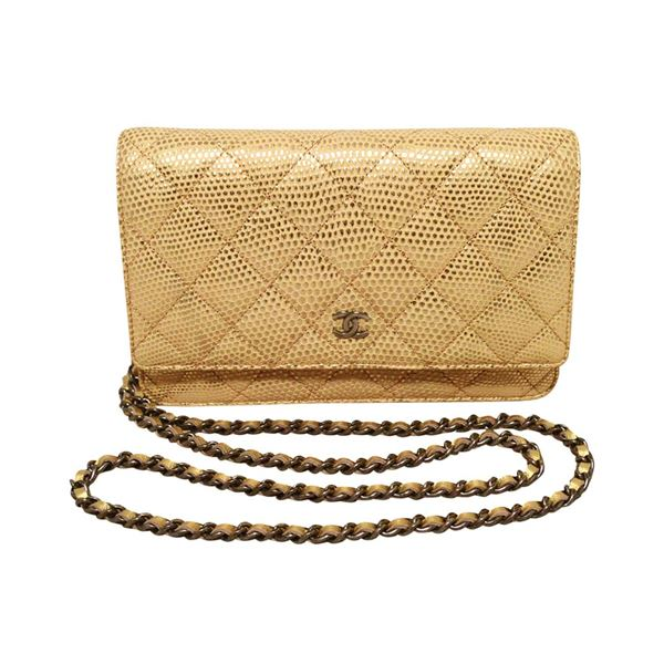 dab8a941d8c426 Chanel Gold Lizard Classic WOC Wallet on a Chain