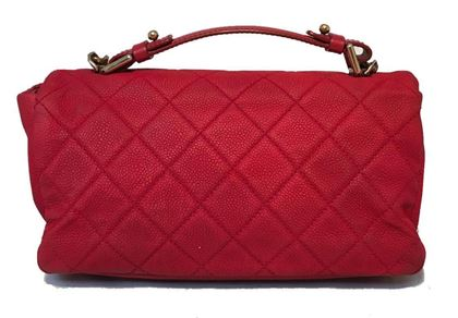 chanel-red-nubuck-caviar-leather-classic-flap-shoulder-bag