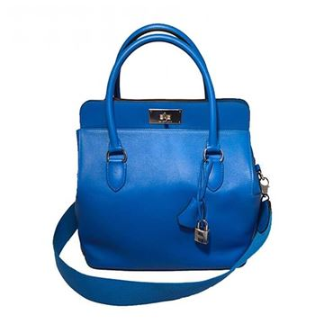 Hermes 26cm Toolbox Bag in Rare Hydra Blue