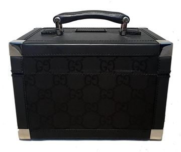 Gucci Monogram Canvas and Leather Black Vanity Case