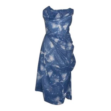 Picture of Vivienne Westwood Gold Label Blue & White Sequin Corset Dress