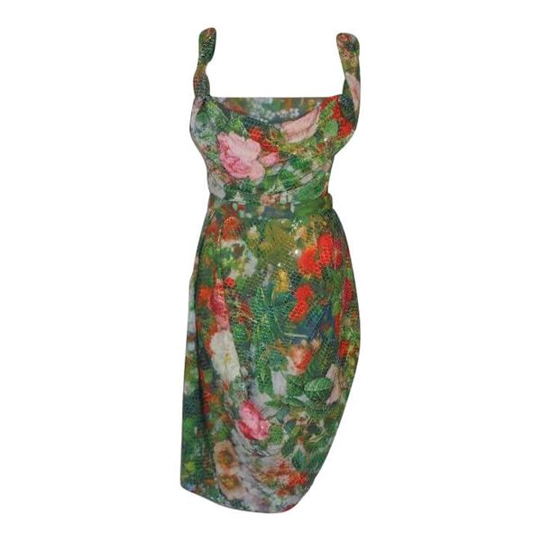 Picture of Vivienne Westwood Red Label Sequin Flower Print Corset Dress