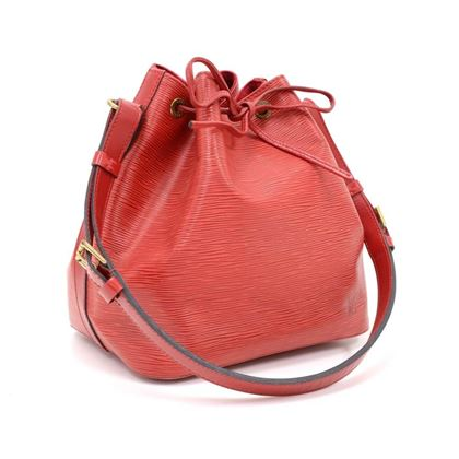 Louis Vuitton Red Petit Noe Epi Leather Bucket Bag