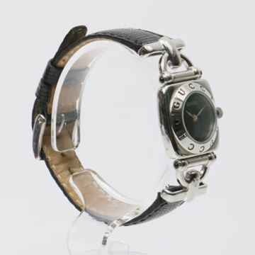 Gucci Black Silver Tone Hardware Watch