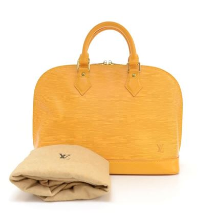 Louis Vuitton Yellow Alma Handbag