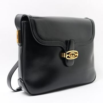 Gucci Black V Flap Handbag
