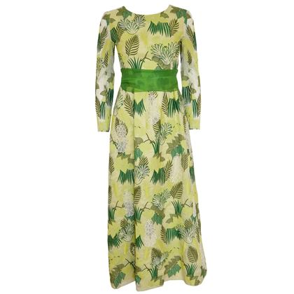 Givenchy 1960s Couture Belted Apple Green Evening