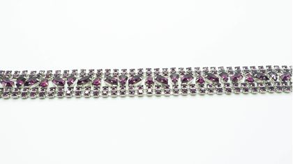 Vintage French Purple Crystal Cocktail Bracelet