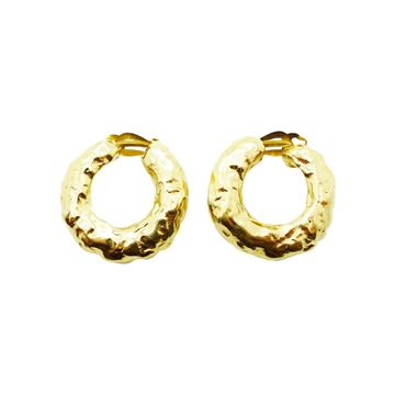 Yves Saint Laurent 1980s Gilt Statement Hoop Earrings