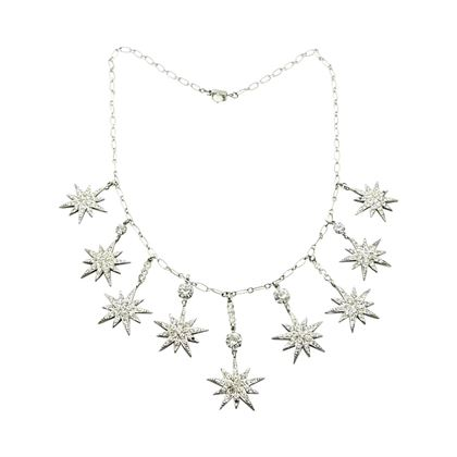 Askew of London Vintage Star Crystal Necklace