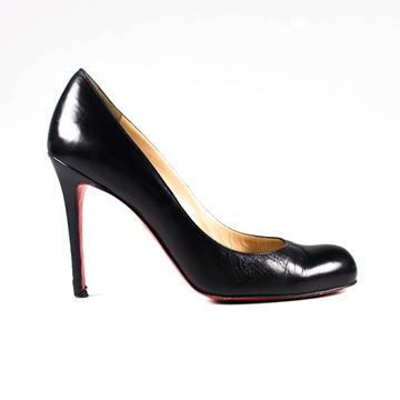 Christian Louboutin Kid 100 Black High Heels