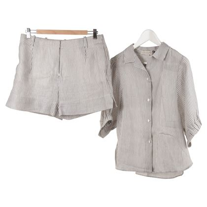 Stella McCartney Grey Shirt & Shorts Trouser Suit
