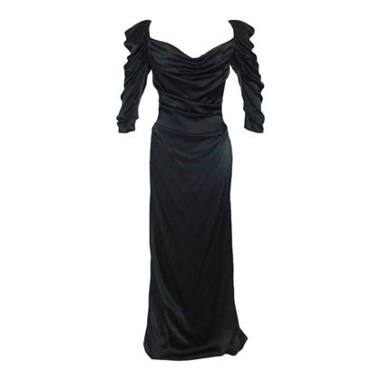 2cc5542db9e ... Picture of Vivienne Westwood Gold Label Black Satin Black Corset  Evening Dress