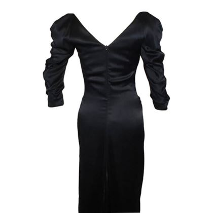 Picture of Vivienne Westwood Gold Label Black Satin Black Corset Evening Dress