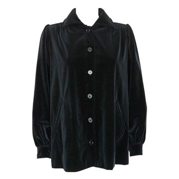 Yves Saint Laurent 1970s Documented Black Velvet Vintage Jacket