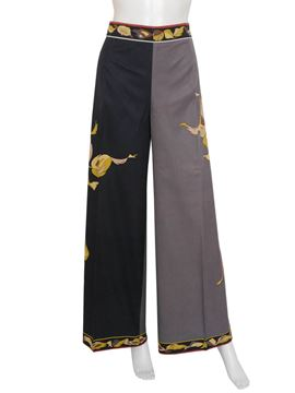 Emilio Pucci 1960s Grey Vintage Palazzo Pants and Blouse Ensemble