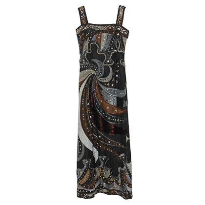 Emilio Pucci circa 1980 Swarovski Crystals Embellished Evening Dress