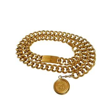 Chanel 1980s Statement Gold Tone Chain Belt