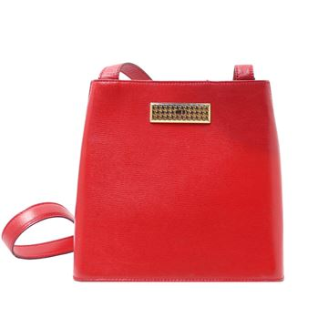 Dior Red Gold Tone Hardware Handbag