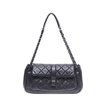 Chanel Black Leather Accordion Handbag