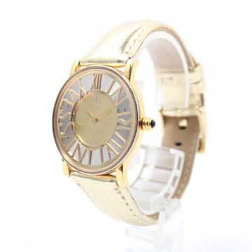 Yves Saint Laurent Gold and Black Big Logo Face Watch
